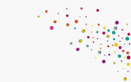 Magic Dust Decoration Transparent Background. Holographic Celebration Circle Illustration. Festival Design. Colorful Top Banner.