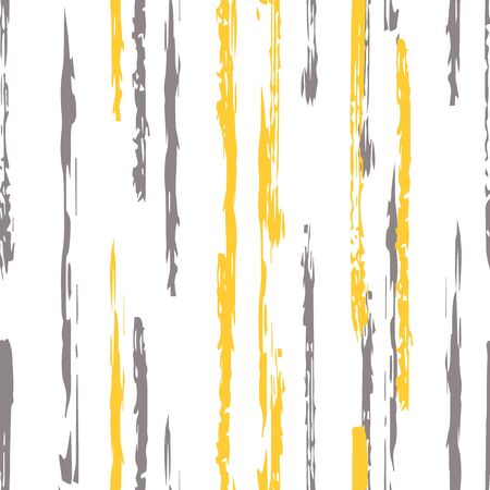 Yellow Color Line Vector Seamless Pattern. Geometric Stripe Print. Beige Stripe Textile Wallpaper. Line Wall Background. Stockfoto - 147729724