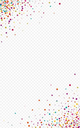 Multicolored Circle Happy Transparent Background. Rainbow Vector Shine Invitation. Christmas Banner. Colored Effect Background.