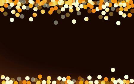 Yellow Round Rich Brown Dark Background. Bridal Circle Texture. Golden Polka Luxury Design. Splash Holiday Card. Stockfoto - 147729727
