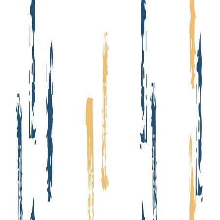 Beige Stroke Stripe Vector Seamless Pattern. Brush Line Design. Brown Stripe Simple Background. Line Paper Texture. Stock Illustratie