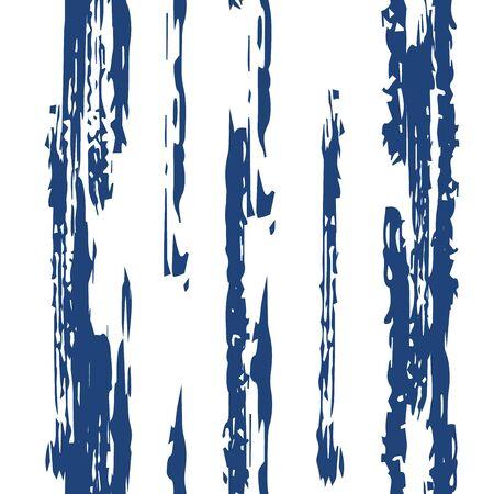 Indigo Color Line Vector Seamless Pattern. Vintage Stripe Background. Blue Line Retro Wallpaper. Stripe Paper Pattern.