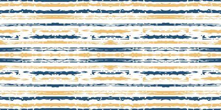 Brown Textile Stripe Vector Seamless Pattern. Modern Line Pattern. Blue Line Graphic Wallpaper. Stripe Geometric Design.