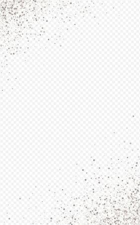 Silver Splash Transparent Transparent Background. Rich Dust Invitation. White Sparkle Happy Design. Shine Bridal Pattern. Vector Illustration