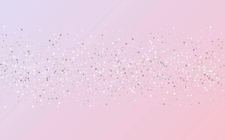 White Dust Vector Pink Background. Rich Rain Postcard. Silver Splash Abstract Card. Dot Golden Invitation. Stock Illustratie