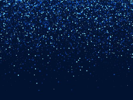 Silver Abstract Graphic Glitter Illustration. White Celebration Dust Template. Glow Digital Design. Dark Galaxy Star Border. Stock Illustratie