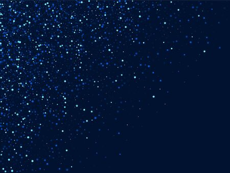 Silver Holiday Digital Starry Border. White Xmas Star Pattern. Glow Graphic Template. Blue Christmas Confetti Background.