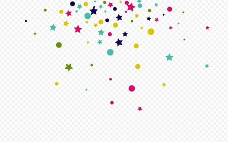 Orange Dot Abstract Transparent Background. Effect Shine Design. Vector Dust Postcard. Rainbow Splash Invitation Background.