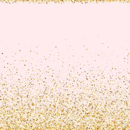 Yellow Round Holiday Pink Background. Effect Shine Pattern. Gold Circle Bright Background. Glow Glamour Wallpaper.