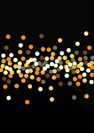Golden Dot Golden Black Background. Holiday Circle Card. Gold Shine Art Pattern. Splash Paper Background. Stock Illustratie