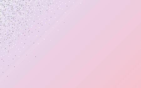 Silver Glow Light Pink Background. Bridal Rain Backdrop. White Dot Art Illustration. Shine Isolated Background. Stock Illustratie