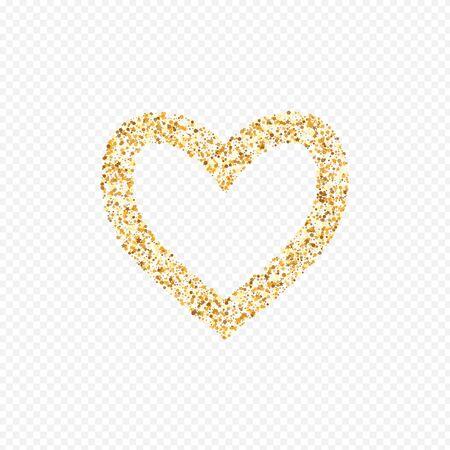 Yellow Round Golden Transparent Background. Vector Glow Background. Gold Shine Falling Illustration. Polka Rich Texture. Stock Illustratie