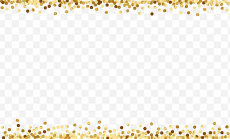Gradient Celebration Dot Template. Art Confetti Design. Yellow Circle Metallic Card. Glow Polka Texture. Golden Birthday Pattern.