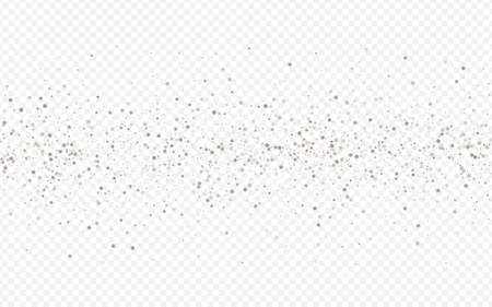 Silver Glow Happy Transparent Background. Golden Dust Backdrop. White Sparkle Modern Pattern. Circle Bright Banner.