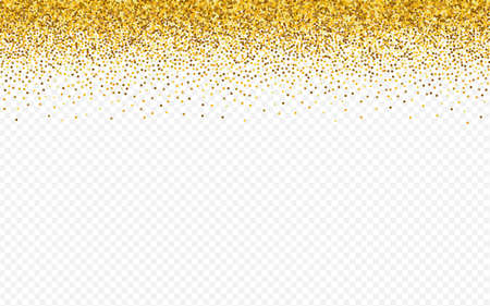 Gold Dot Bridal Transparent Background. Abstract Shine Design. Yellow Glow Vector Illustration. Sparkle Happy Banner.