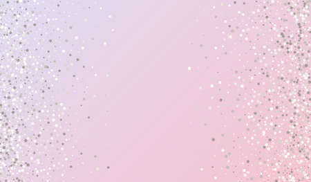 White Polka Festive Pink Background. Rich Confetti Background. Silver Sequin Christmas Card. Round Falling Texture. Ilustrace