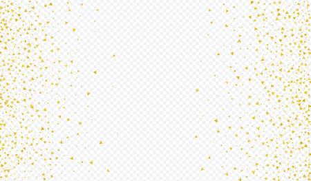 Gold Shard Transparent Transparent Background. Anniversary Sequin Pattern. Yellow Confetti Happy Banner. Sparkle Festive Backdrop. 向量圖像
