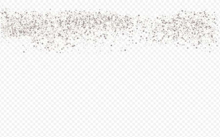 White Sparkle Paper Transparent Background. Happy Rain Background. Silver Circle Falling Design. Sequin Abstract Texture.