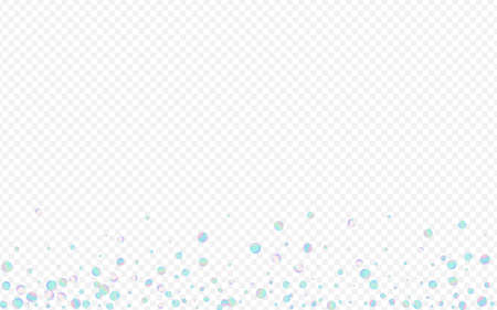 Colored Round Effect Transparent Background. Rainbow Christmas Rain Design. Carnival Invitation. Holographic Abstract Banner.