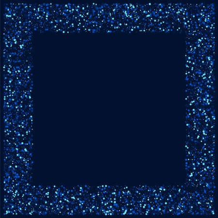 White Shiny Digital Star Texture. Silver Xmas Glitter Wallpaper. Confetti Vector Banner. Dark Glamour Space Template. Illustration