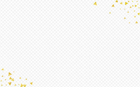 Yellow Rain Effect Transparent Background. Vector Dust Banner. Gold Confetti Shiny Background. Shard Isolated Design. 向量圖像