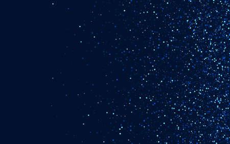 Silver Elegant Graphic Glitter Design. Blue Decoration Glow Background. Shine Digital Template. White Festive Star Banner. Ilustracja