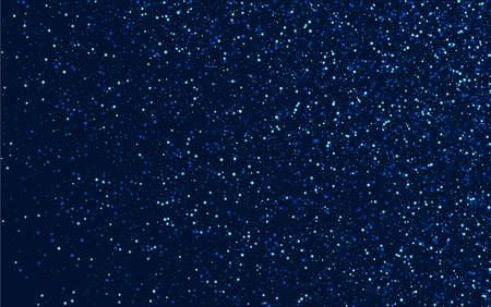 Blue Luxury Digital Glow Border. White Party Sparkle Wallpaper. Glitter Vector Illustration. Silver Light Sky Banner.