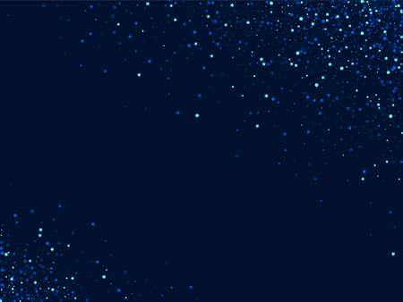 Dark Falling Vector Sparkle Illustration. Blue Holiday Star Banner. Space Graphic Template. Silver Festive Glow Background.