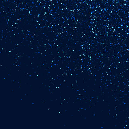 White Bright Digital Space Pattern. Silver Christmas Glow Illustration. Dust Vector Template. Blue Galaxy Universe Border. 矢量图像
