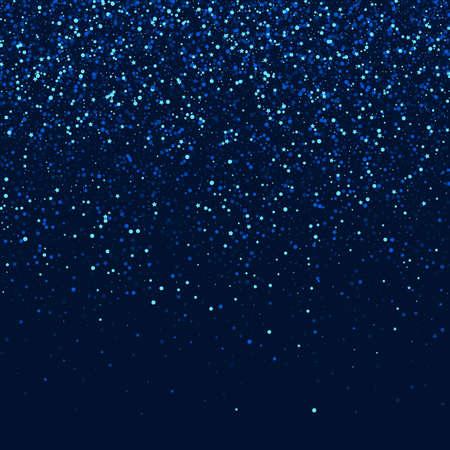 Blue Galaxy Vector Glow Design. Silver Celebration Star Banner. Rain Digital Template. Dark Abstract Sparkle Pattern. Ilustracja