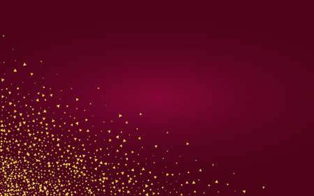 Gold Shine Golden Burgundy Background. Vector Glow Wallpaper. Yellow Triangle Anniversary Card. Splash Glamour Banner. 矢量图像