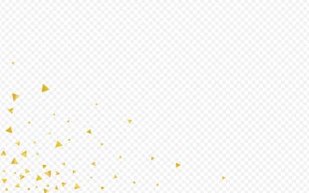Gold Confetti Luxury Transparent Background. Modern Rain Wallpaper. Golden Sequin Isolated Design. Glow Vector Banner.