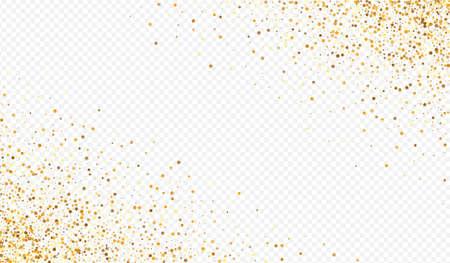 Gold Dot Modern Transparent Background. Rich Splash Wallpaper. Golden Sequin Paper Banner. Dust Festive Invitation.
