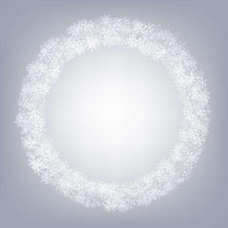Gray Snowflake Vector Gray Background. Holiday Snowfall Transparent. Silver Light Design. Sky Snow Illustration.