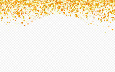 Golden Sparkle Transparent Transparent Background. Golden Sequin Wallpaper. Gold Round Art Card. Polka Modern Banner.