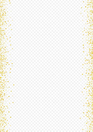 Yellow Glow Christmas Transparent Background. Holiday Triangle Pattern. Gold Shard Rich Card. Confetti Luxury Design.