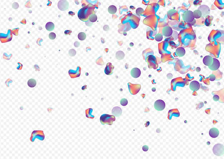 Hologram Bubble Hipster Vector Transparent Background. Geometric Bubbles Illustration. Neon Minimal Holography Poster. Iridescent Organic Cover. Zdjęcie Seryjne - 157463934