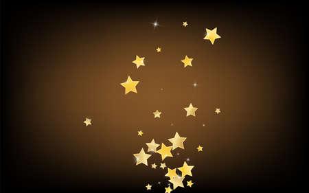Yellow Magic Stars Vector Brown Background. Galaxy Sparkle Design. Dust Template. Golden Celebration Shine Border. Zdjęcie Seryjne - 157576811
