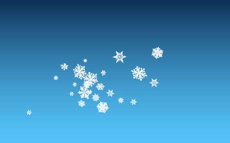 Gray Snowflake Panoramic Vector Blue Background. Xmas Snow Illustration. White New Transparent. Sky Snowfall Pattern.