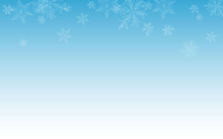 White Snowflake Vector Blue Background. New Snowfall Wallpaper. Gray Holiday Holiday. Christmas Snow Pattern. Zdjęcie Seryjne - 157477067