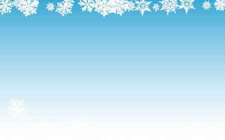 Gray Snowfall Panoramic Vector Blue Background. Xmas Snowflake Pattern. White magic Design. Fantasy Snow Transparent.