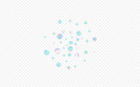 Gradient Round Christmas Transparent Background. Magic Flying Confetti Illustration. Celebrate Texture. Colorful FallingFestive Card.