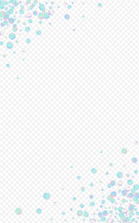 Colored Dot Happy Transparent Background. Magic FallingFestive Confetti Illustration. Carnaval Design. Hologram Celebrate Card. Ilustracja