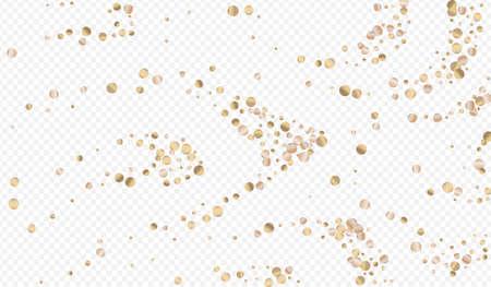 Yellow Dust Art Transparent Background. Anniversary Dot Banner. Golden Confetti Festive Pattern. Circle Happy Wallpaper. Иллюстрация