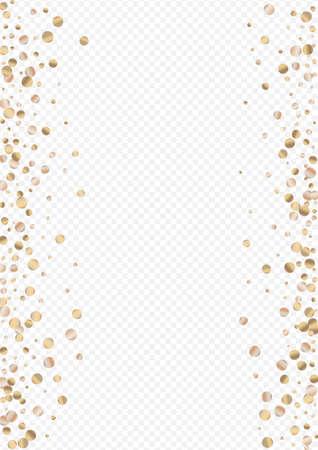 Bronze Sparkle Glamour Transparent Background. Happy Splash Pattern. Golden Sequin Rich Illustration. Shine Christmas Card. Иллюстрация