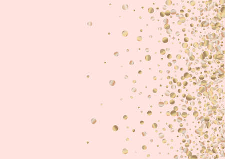 Yellow Splash Falling Pink Background. Transparent Sparkle Illustration. Gold Shine Golden Background. Polka Abstract Texture. Иллюстрация