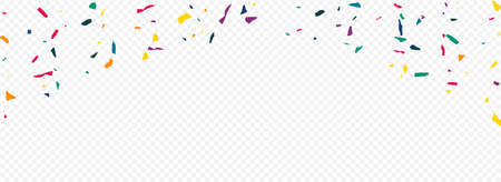 White Paint Flying Panoramic Transparent Background. Happy Smear Pattern. Abstract Colored Paper Backdrop. Rainbow Particles Celebrate Illustration.