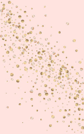 Yellow Round Shiny Pink Background. Art Rain Design. Gold Circle Rich Invitation. Dust Abstract Texture.