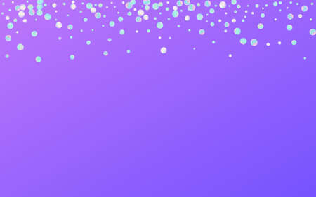 Magic Dust Effect Blue Background. Unicorn Abstract Round Illustration. Invitation Background. Colored Independence Backdrop.
