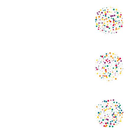 Green Dot Flying White Background. FallingFestive Shine Postcard. Effect Circle Invitation. Yellow Round Invitation Illustration. Illusztráció